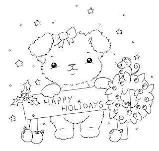 Freebie: Christmas Puppy Digi
