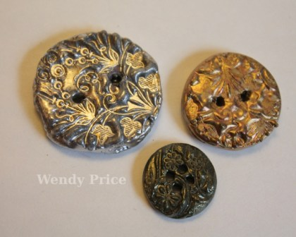 Tutorial: Stamped Faux Metal Buttons