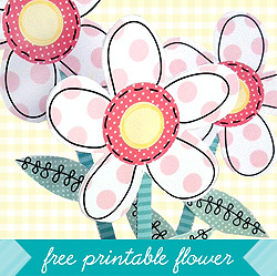 Freebie: Printable Flower