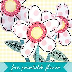 Freebie: Printable Flower