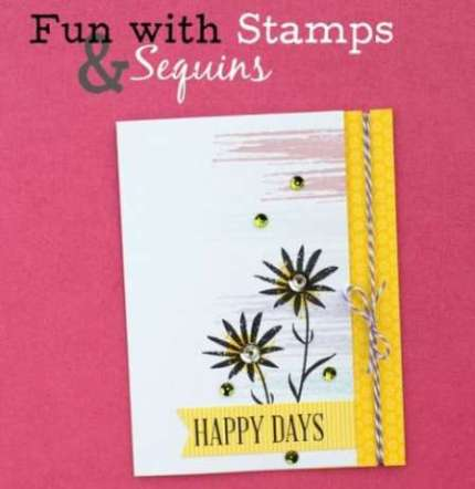 Project: Card with Stamps and Sequins