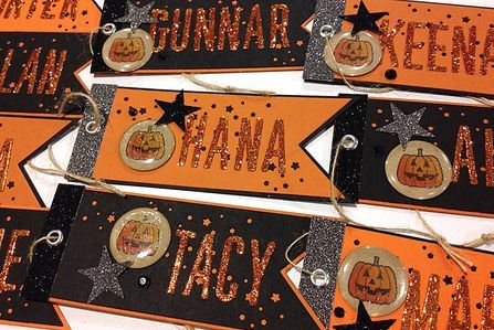 Project: Custom Halloween Name Tags