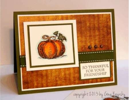 Project: Stamped Pumpkin Card