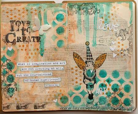 Project: Mixed Media Journal Page with Texture Paste