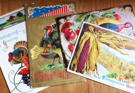 Freebie: Vintage Thanksgiving Cards