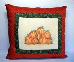 Project: Stamped Fall Pillow