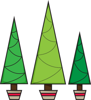 Freebie: Christmas Tree Digital Stamp