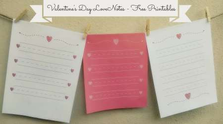 Freebie: Printable Love Notes