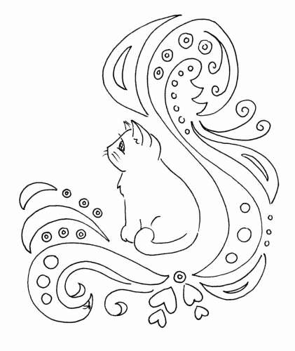 Freebie: Kitty Digi Stamp