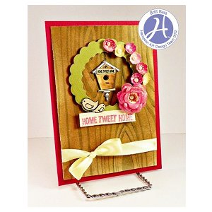 Project: Bird House Wreath Card