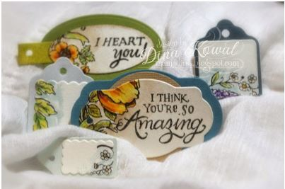 project: stamped and die cut tags