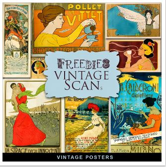Freebie: Vintage Poster Images