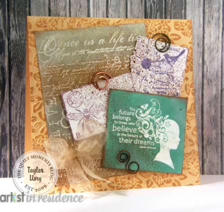 Project: Metallic Stamped Card