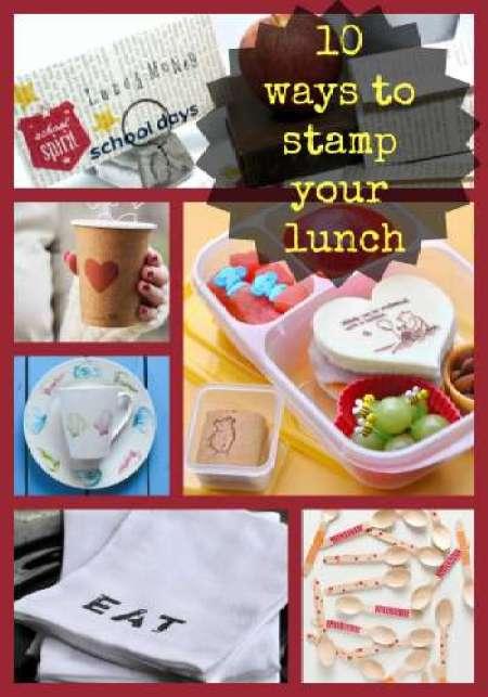 10 ways to stamp your lunch - CraftGossip