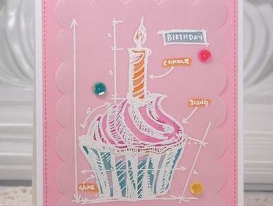 Project and Technique: Cupcake Card using Vellum Paper