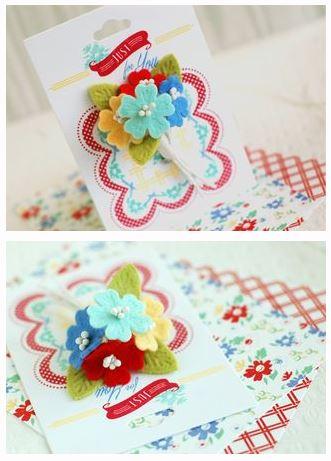 Tutorial: Felt Flower Card Embellishment