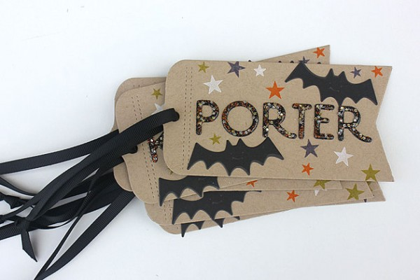Project: Halloween Tags with Glitter Letters
