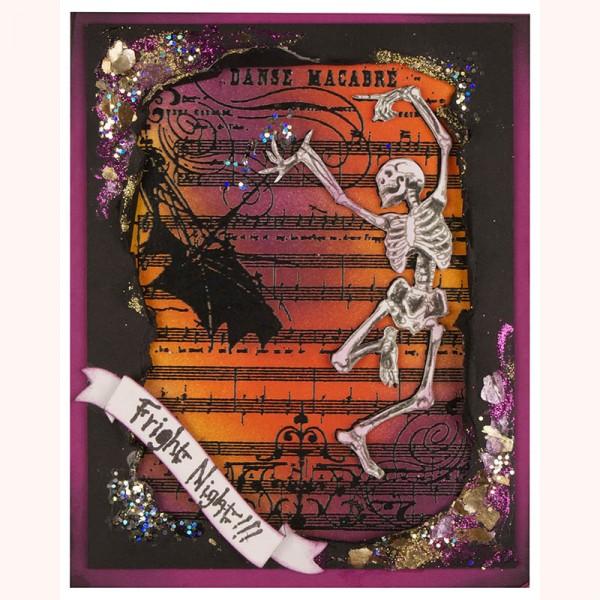 Project: Skeleton Halloween Card