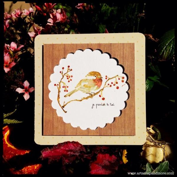 Project: Winter Bird Card