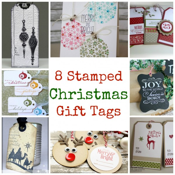 8 Stamped Christmas Gift TagsStamping
