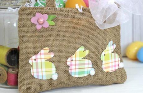 Project: Burlap Easter Bag