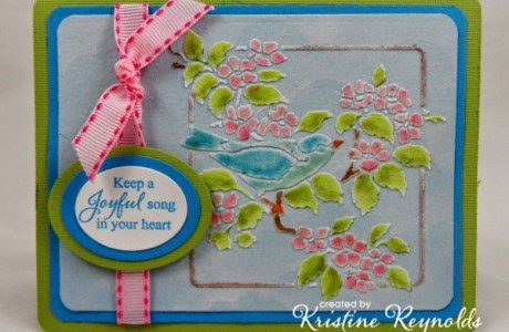 Project: Stenciled Bird Card