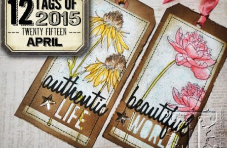 Techniques: Stamped Tags with Tim Holtz Products