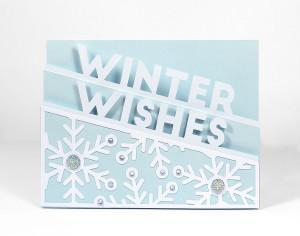 Freebie: Winter Words Edge Card