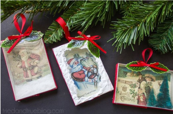 Freebie and Project: Vintage Diorama Ornament