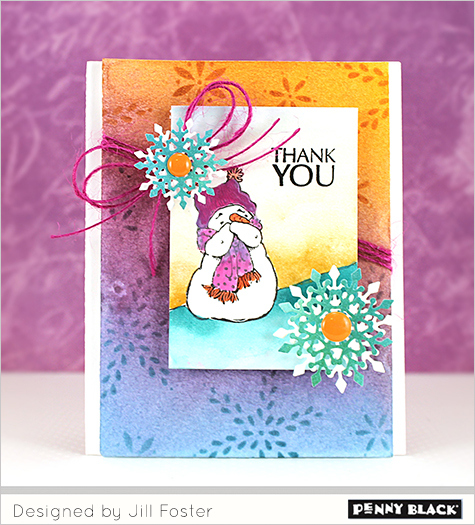 Project: Thank You Snowman Card
