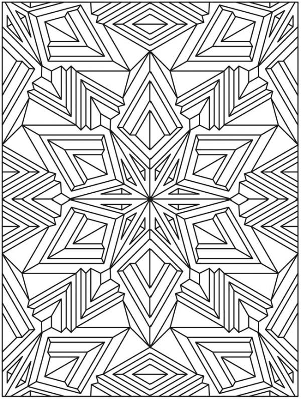 Freebie: Mandala Snowflake Coloring Page