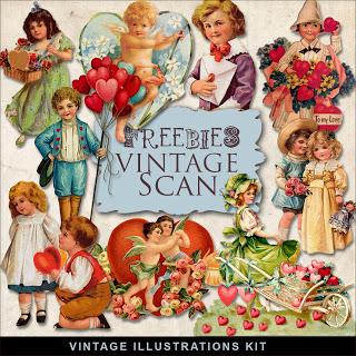 Freebie: Vintage Valentine Images