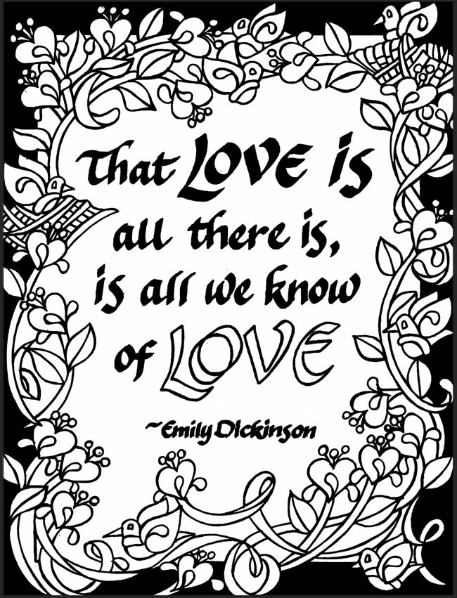 Freebie: Emily Dickinson Quote Coloring Page