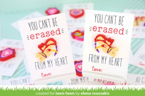 Project: Kids Class Room Valentine Cards with Erasers
