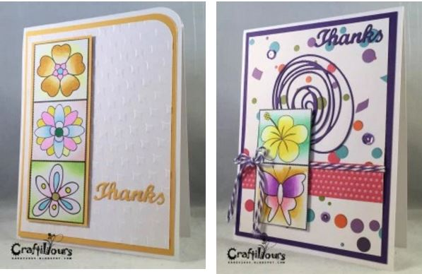Tip: Cards made from Coloring Pages