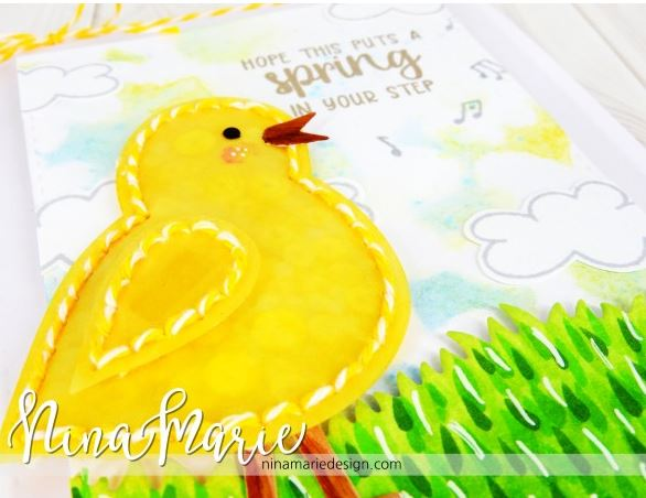 Project: Stitched Chick Die Cut Card