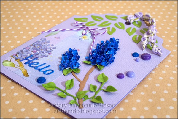 Project: Card with Realistic Paper Lilacs