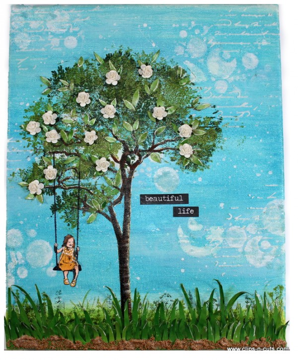 Project: Tree Swing Stamped Canvas