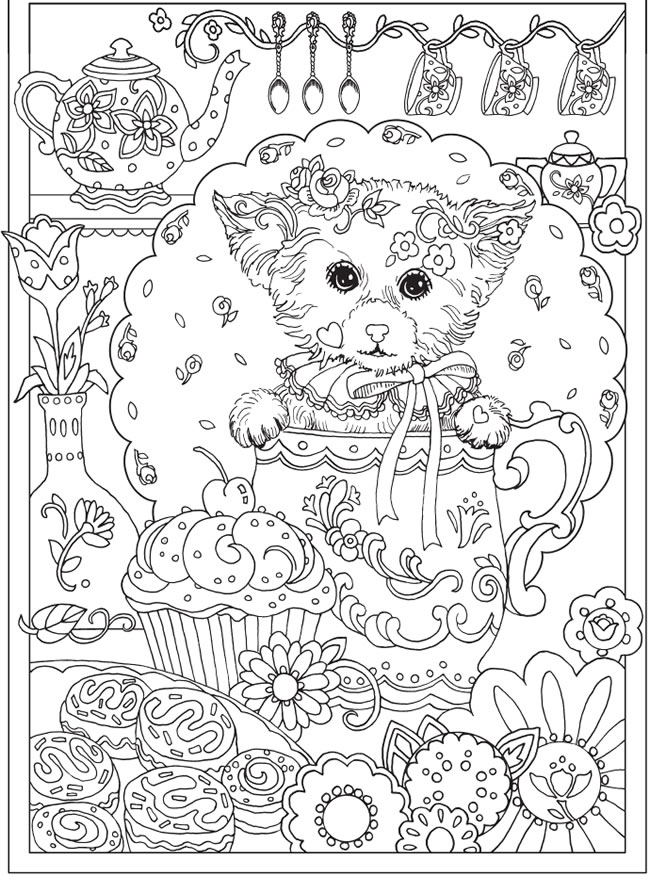 Freebie: Puppy Dog Coloring Page