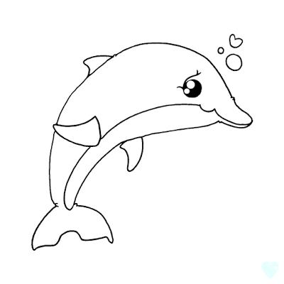 Freebie: Dolphin Digital Stamp