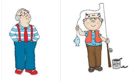 Freebie: Grandpa or Dad Digital Stamps