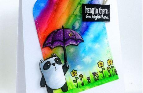 Project: Rainbow Panda Card