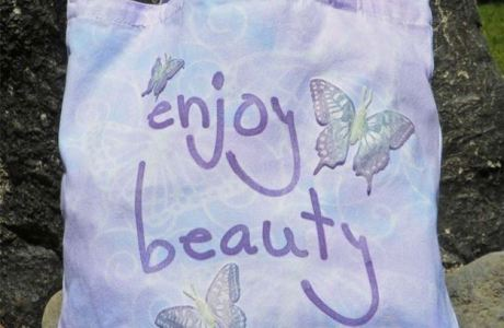 Project: Stamped Butterfly Tote Bag