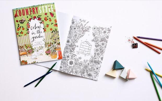 Freebie: Garden Coloring Page