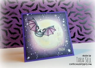 Project: Halloween Bat and Moon Card