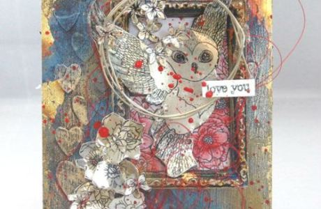 Project: Mixed Media Owl Tag