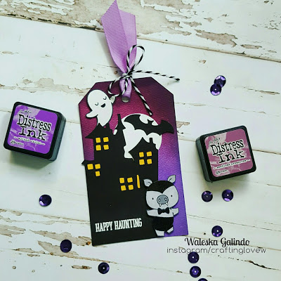 Project: Cute Vampire Pig Halloween Tag