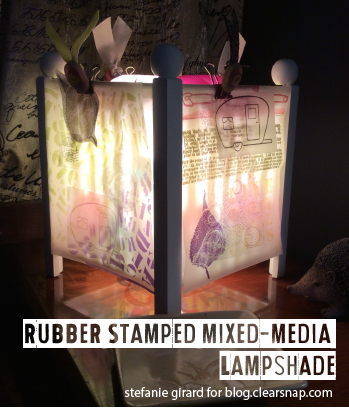Project Stamped Lampshade