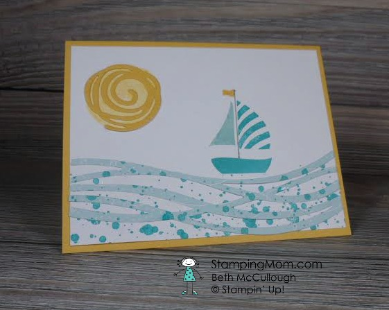 Stampin' Up!  Swirly Bird and Swirly Scribbles Thinlits Dies CAS card designed by Beth McCullough www.StampingMom.com  #StampingMom #StampinUp