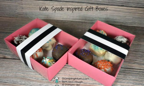 StampinUp Kate Spade inspired Gift Boxes designed by demo Beth McCullough. Please see more card and gift ideas at www.StampingMom.com